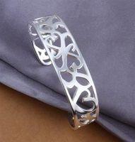 Free Shipping Fashion 925 Silver Kelp Bangle Bracelet for Women Jewelry Factory Price SMTB192