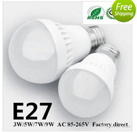 100X 3W/5W/7W/9W  LED bulbs 300LM E27 E14 B22 led lamp USA Seller 3 years warranty 5730 5630 led lights led Globe lights