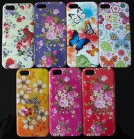 Vintage Embossing Flowers Series Hard PC phone case for Iphone 5 5s etp lfm