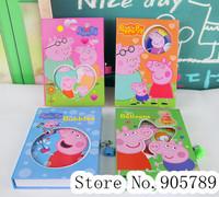 Student Stationery Peppa Pig cartoon Diary Notepad 14.5*20.5cm