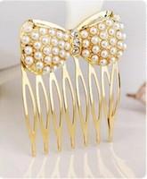 486 accessories hair accessory rhinestone pearl bow fork hair stick hair accessory alloy fat plug