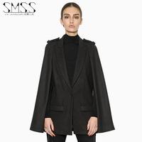 SMSS fashion autumn suit collar button three-dimensional pocket mantle type woolen outerwear