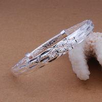 Free Shipping Fashion 925 Silver Fashion Bangle Bracelet for Women Jewelry Factory Price SMTB190