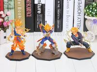 Dragon Ball Z Super Saiyan Goku Vegeta Trunks  Battle State Final Flash PVC Action Figure Toy Children's best toy