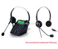 Call Center Dialpad Headset Telephone with Binaural telephone headset with RJ09 plug