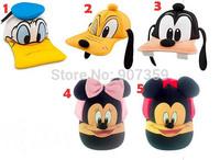 Children girl's boy's Baseball Caps with cartoon design Kids Baseball Caps Adjustable Hats free shipping 30pcs/lot