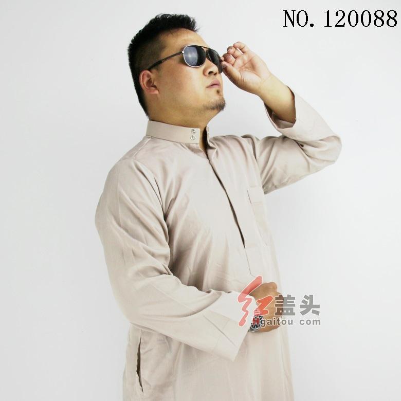 moslim jurk mannen abaya islamitische kleding, 4 kleuren, primaire kristal katoen, kleine groothandel/retail, fabriek directe verkoop 120088(China (Mainland))
