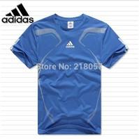 2014 male summer sporting T-shirts polyester fiber short sleeve T-shirt running badminton T-shirt