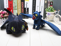 """How to Train Your Dragon 40cm 15.8"""" Night Fury Toothless Plush Toy new arrival Christmas gifts"""