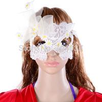 (30 pcs/lot) Festive & Party Supplies 2014 new arrival Hot sale Handmade Half-face White Color Bridal Wedding Fancy Masks