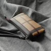 convenient and practical lattice mini wallet genuine leather fashion plaid handbag