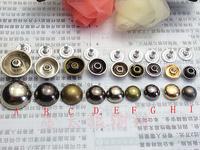 mushroom rivet punk metal nail Steamed buns clothing decorative accessories, mobile phone shell material circular rivet
