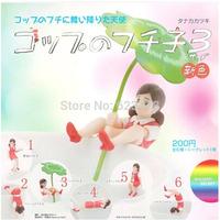 6pcs/set Japanese Anime RED fuchiko Four Leaf Clover Cute Figure Toys for Girls Gift