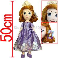 2014NEW cartoon Sofia Princess dolls plush toys Sofia the First princess sofia doll plush toys girls Gift Christmas Gift 50cm