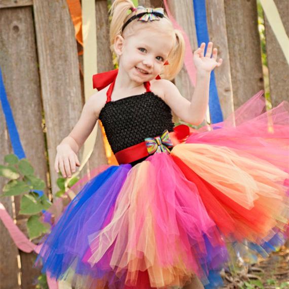 Diy Baby Tutu Dress Baby Girl Rainbow Tutu Dress