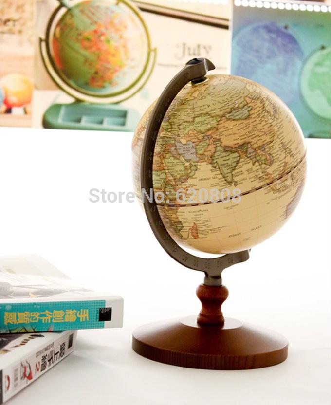 Brinquedos clássicos ferramentas do Vintage diâmetro 14 cm geografia globo globo do mundo decoração de brinquedos educativos crianças presente(China (Mainland))