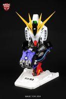 2014 MagicToys 1/35 RX-93 Nu Gundam Head Plastic Model Kit with LED&Stickers