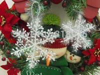 (3pcs*20set=60PCS/lot) Snowflake Christmas supplies Size 6cm\8.5cm\11cm\15cm\18cm\22cm Christmas hanging decoration white color