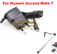 EU Plug Charger Travel Charger Cell Phone Charger +Touch Pen For Huawei Ascend Mate 7
