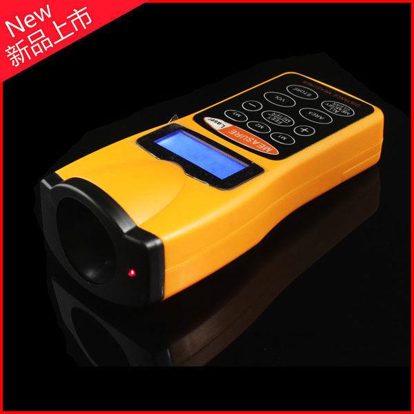 Free Shipping 1pcs Mini Portable Ultrasonic Distance Measurer meter 18m, electronic Measuring tape with Laser Pointer Tool long(China (Mainland))