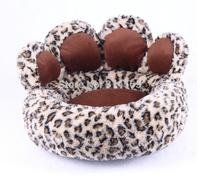 Bear Paw Type Pet Nest Leopard Print Pet Bed Small Dog Kennel Pet Supplies