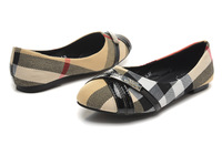 2014 fashion brand womens shoes  Casual Round   flat Ballet shoes white  black color