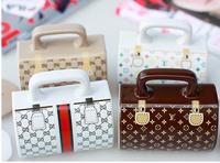 Free shipping creative novelty fashion handbag ceramic coffee mug cups with lid and handle,  4 style, birthday gift