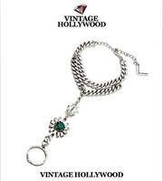 VINTAGE HOLLYWOOD bracelet strass flower all-match bracelet kors bracelet rings bracelet jewelry charm bracelets for women