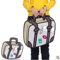 Solid Cartoons bag 3D three-dimensional women tote bags travel bag 14 laptop bag handbags 1025