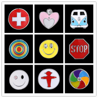 Cute Heart Cross Pres Smile Skull Studs Snap Prong Fastener Metal Buttons Botton Craft DIY For Bracelets 14I4AK044