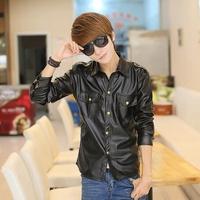 2015 Fashion Brand Hoodies Men Casual Sportswear Man Hoody Sweatshirt Men pu leather jacket, Free Shipping 07