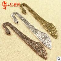 A3565  20pcs/lot size 80*11mm Three colors Bookmark  Antique diy pendant Jewelry findings  nickel free zakka