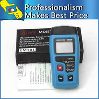 EMT01 2 pins Digital Wood Moisture Tester Meter LCD Display Data Hold 0~99.9% Humidity Measurement