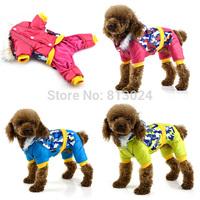 FashionVogue Small Dogs Cat Winter Padded Pet Waterproof Hoodie Jumpsuit Down Coat FreeShipping