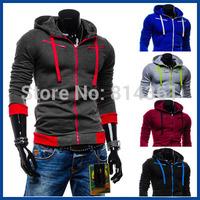 2014 New Designer Brand Autumn Winter Mens Hoodie Jacket Zipper Fleece Outdoor Sportswear Element Men Sweatshirts Free Shipping