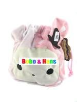 New cute cartoon pink rabbit design plush coin Purse / Shrink bag / wallet  / Wholesale