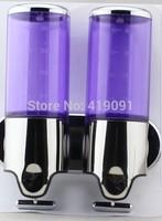 wholesale High Plastic Manual Double Soap Dispenser Hand cream Sanitizer & Double Soap Dispenser free shopping KHSD1025DB
