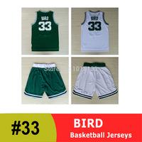 Larry Bird Jersey Boston #33 Bird Basketball Jersey and Shorts Kit Fast Free Shipping
