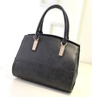 Korean version  fashion casual matte leather handbag shoulder bag zipper bag