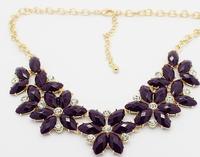 2014 new fashion romantic retro gem necklace  A102