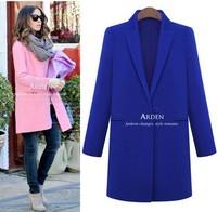 2014 women's trench New Fashion Women's Slim long sections Wool blended Coat Winter E6562
