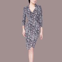 new arrival autumn fashion women  vintage slim stretch dresses ,formal business dress Q87