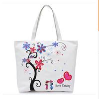 2014 fashion cartoon printed map pack shoulder bag leisure bag women canvas handbag