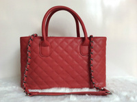 2014 new brand double c chain letters women handbag tote lady cc messenger shoulder bag genuine leather  gift 5 colors