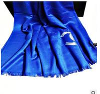 2014 new fashion winter print gold 50% silk and 50% wool scarf women soft silk scarves brand shawl with original box
