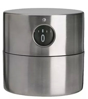 1 PCS 6x6cm Stainless steel kitchen timer, timer reminder gadget