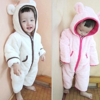 2014 New Brand Spring/Autumn/Winter baby/children clothes set ,long-sleeve Romper /Hooded Warm overall Jumpsuit/Kid Clothes