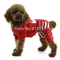 FashionPets Dogs Winter Warm Coat Santa Pattern Jumpsuit Hoodie Puppy Soft Clothes