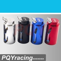 J2 RACING STORE-Universal 10mm D1 Engine Round Oil Catch Tank Can JDM BLACK,SILVER,RED,BLUE  PQY-TK82