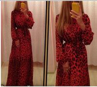 casual winter women party cheap clothes china plus size clothing woman club long evening chiffon leopard dress maxi dresses